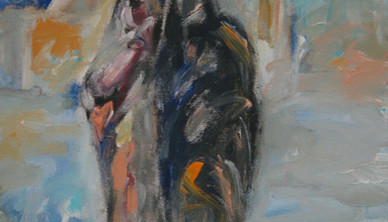 Abdul Rahim Salem Me & She Acrylic on canvas 36 x 46 cm 2008
