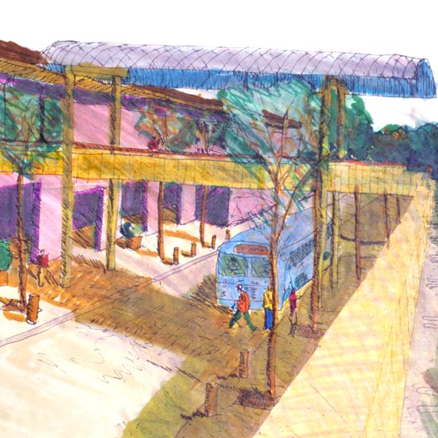 Sketch of downtown Beckett