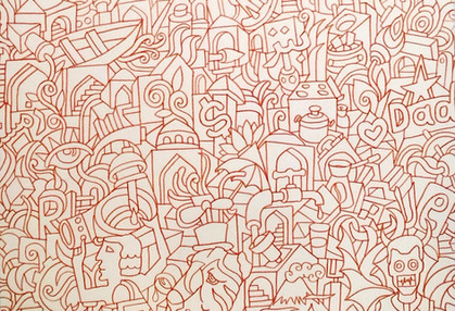 Ali Razavi Marker on canvas 70 x 70 cm 2018