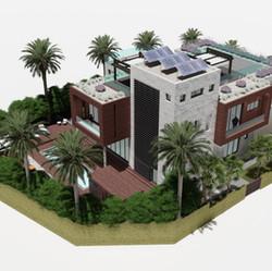 Site plan of Jebel Ali villa