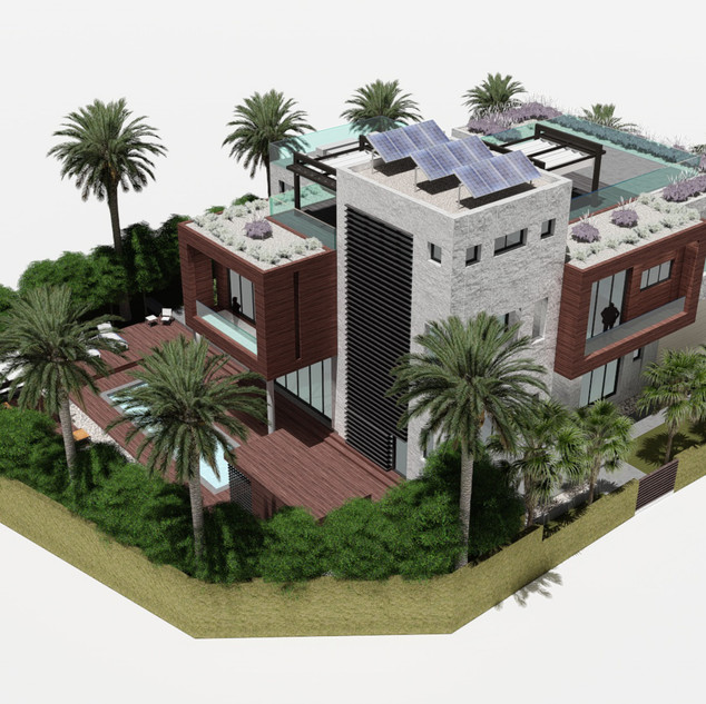 Site plan of Jebel Ali villa