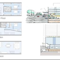 Marina Villas floor plans and cross sections