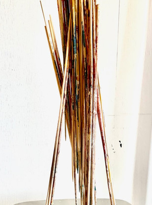 Stilts Wood sticks, paint & glue 48 x 20 x 25 cm 2020