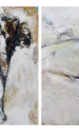 Mix media on canvas 40 x 40 cm each 2009