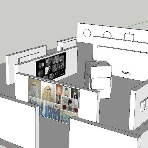 3D proposal of the exhibition