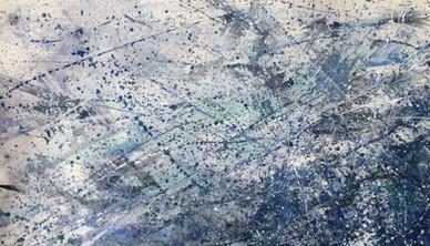 Winter Storm Watercolor 76.2 x 106.6 cm
