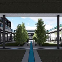 Ground floor courtyard view