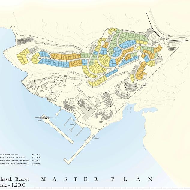 Master plan of Khasab Resort