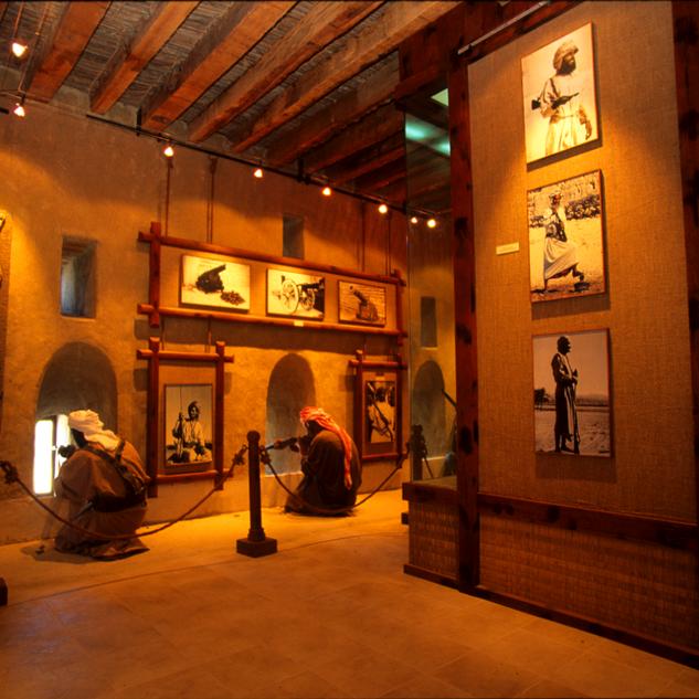 Interior setup of the museum