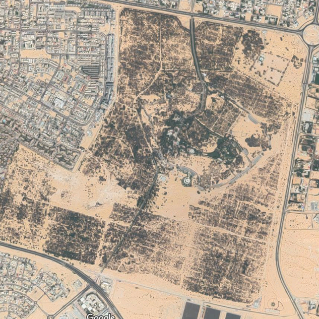 New Google Earth view of Mushrif Park