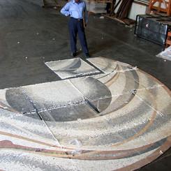 Marble mosaic work in progress