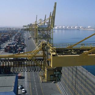 Container terminal in Jebel Ali Port, Dubai