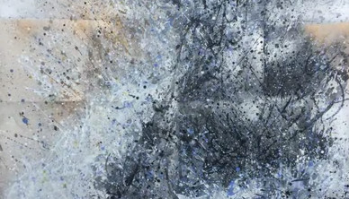 L'eclat Unfolded - Ecstatic Energy Watercolor 76.2 x 106.6 cm