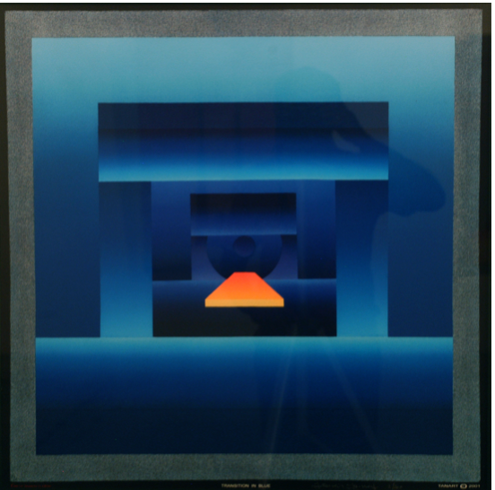 Francis Tansey Transition in blue Print 75 x 75 cm