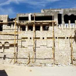 Sheikh Saeed House under construction
