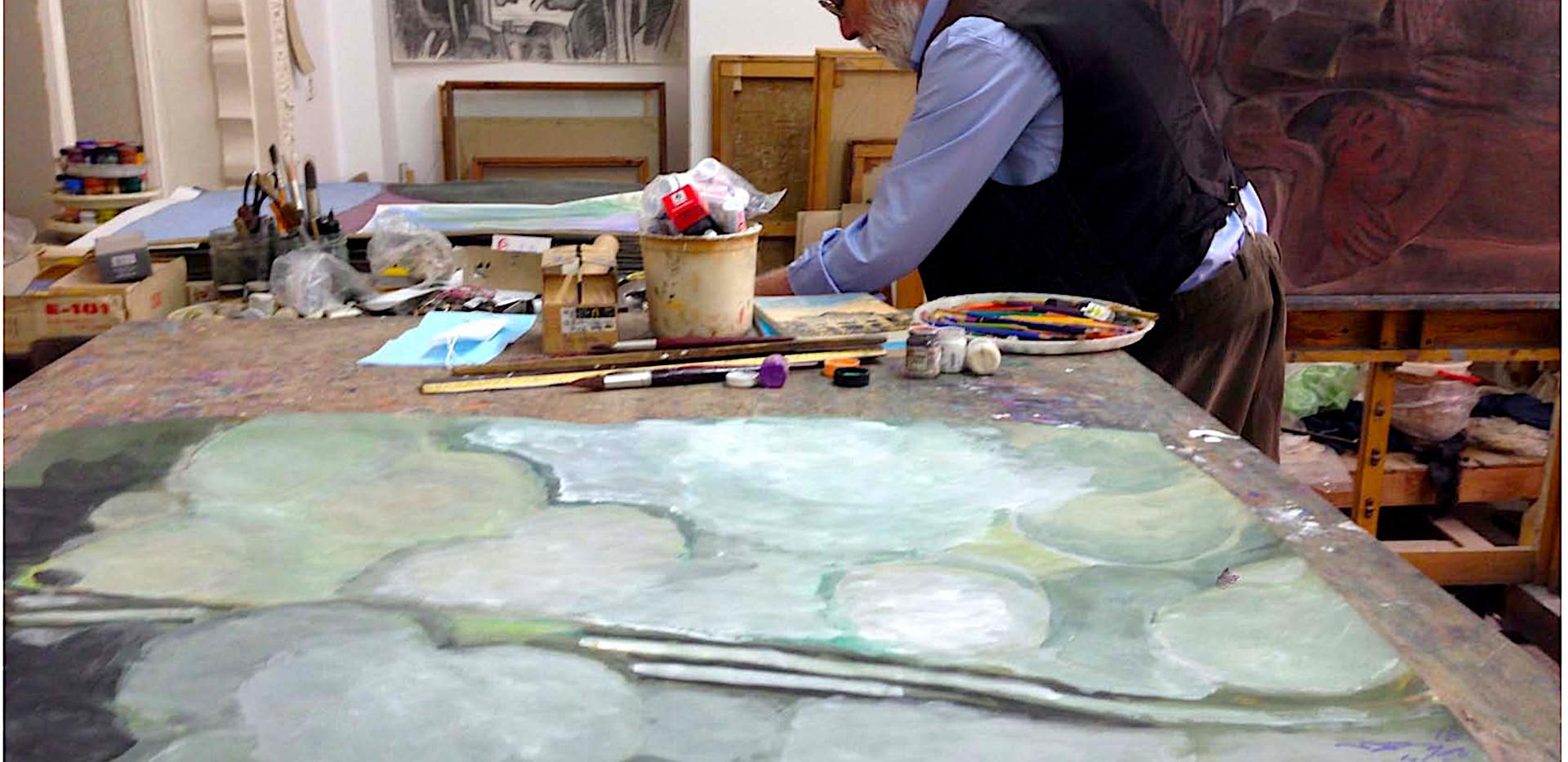 Ali Golestaneh in his studio, Tehran, 2010