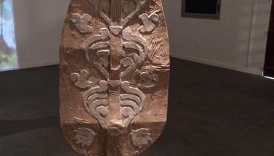 Installation view Yasmin Sinai Tree of Life Cardboard and mix media 160 x 51 cm 2014-2015
