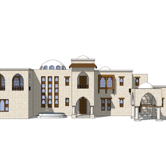 Elevations for one of the types of villas in Palm Jumeirah
