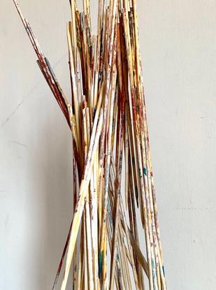 Stilts Wood sticks, paint & glue 56 x 25 x 25 cm 2020