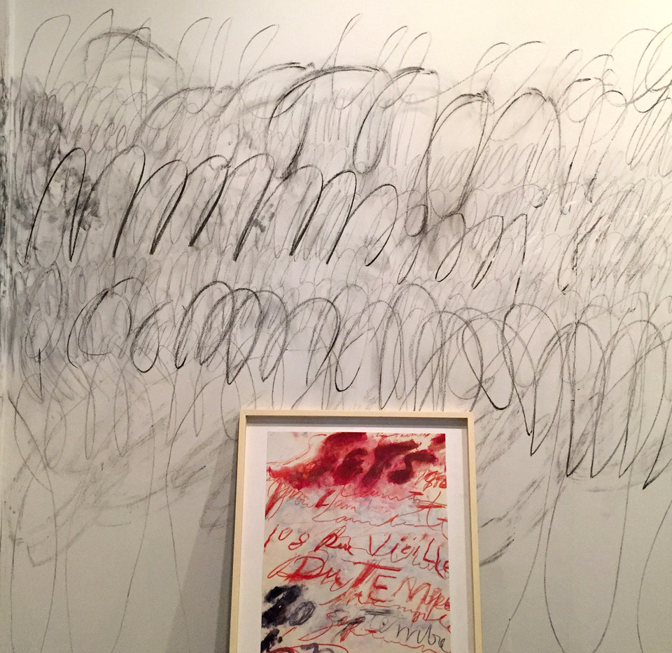 Installation view Cy Twombly Signed poster 44 x 55.5 cm