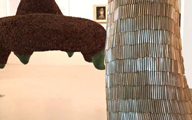 Installation view Zahra Navaei Mix media sculptures 2015