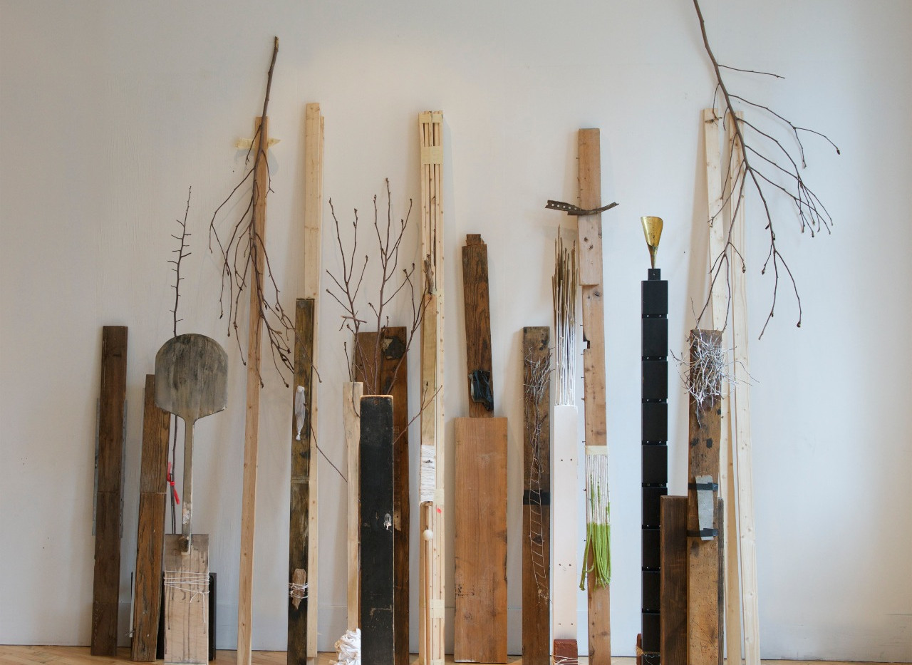 Shaqayeq Arabi Totems Found objects & assemblages 2015