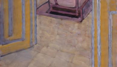 Ali Golestaneh Artist's room Gouache on paper 100 x 70 cm 2014