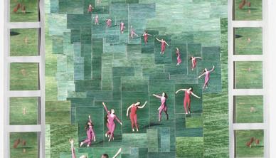 Dancer in the park photomosaic Claude Samton
