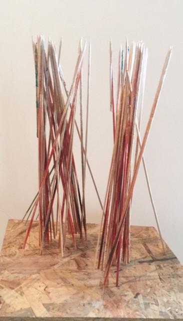 Shaqayeq Arabi On Stilts Found objects 2018