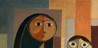 Saady Rashid Al Saffar Oil on Canvas 58 x 44 cm
