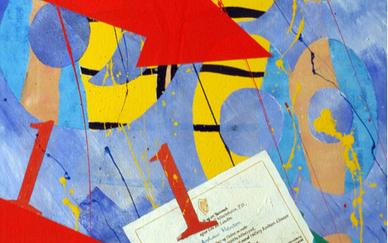 Andrew Manson Small diary Acrylic on canvas 76 x 51 cm 2001