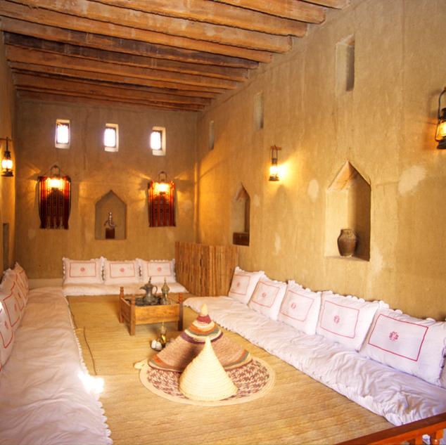 Interior setup of the room