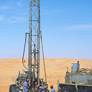 Seismic test for oil exploration in Liwa, Abu Dhabi
