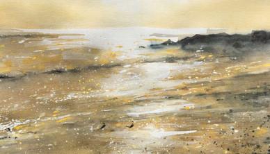 Golden Calm Watercolor 76.2 x 106.6 cm