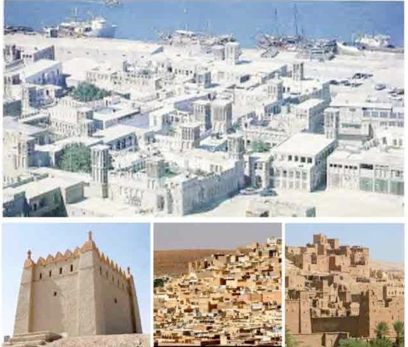 Architectural character themes of the urban form. Inspiration for Madinat Al Soor