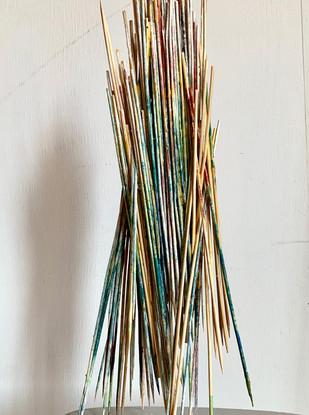 Stilts Wood sticks, paint & glue 57 x 35 x 25 cm 2020