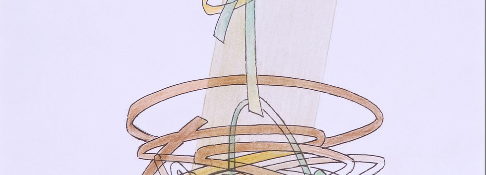 Koorosh Shishegaran Pen and water color on paper 46 x 34 cm 2002