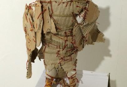 Yasmin Sinai Owl Cardboard Sculpture 38 x 14 cm 2014