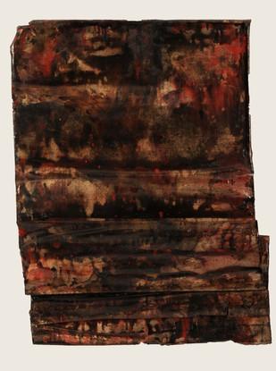 Mix media on folded canvas 70 x 115 x 7 cm 2010