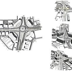 Urban design proposal of the Dubai clock tower roundabout sector