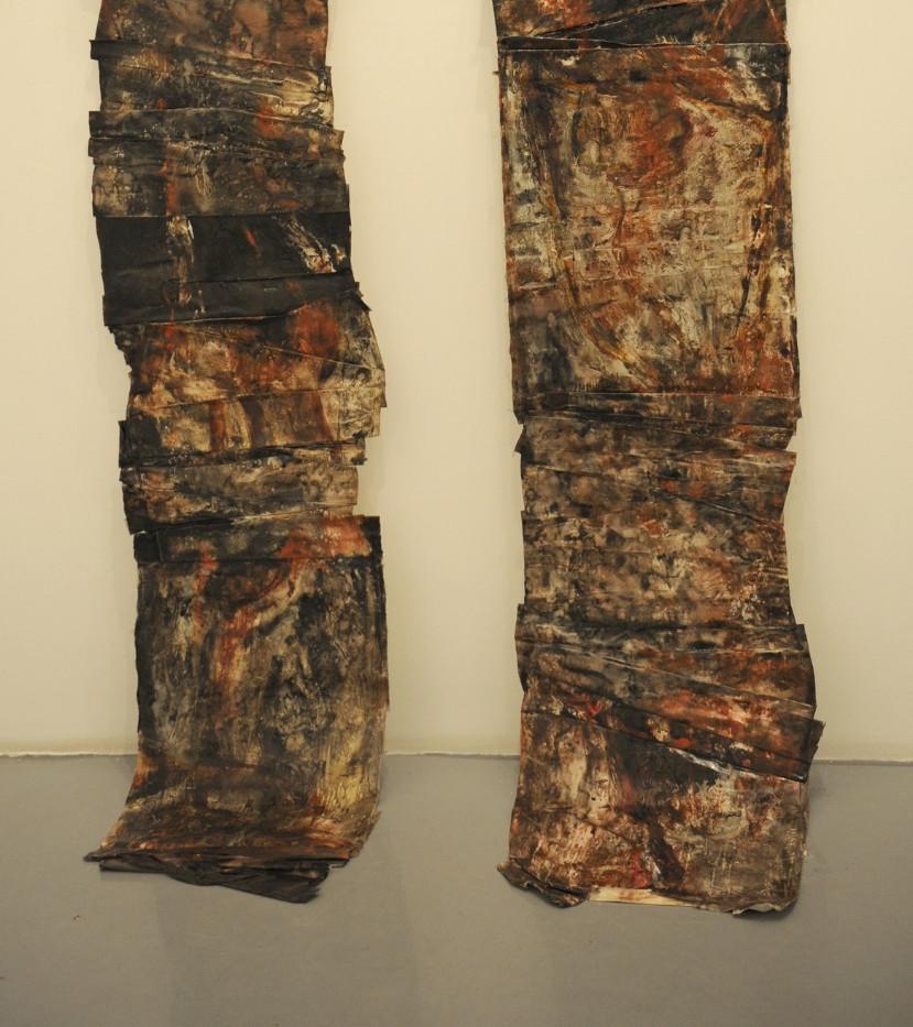 Shaqayeq Arabi Folded canvases Mix media on folded canvases 65 x 300 cm 2010
