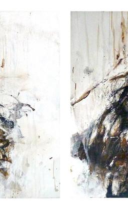 Mix media on canvas 50 x 50 cm each 2009