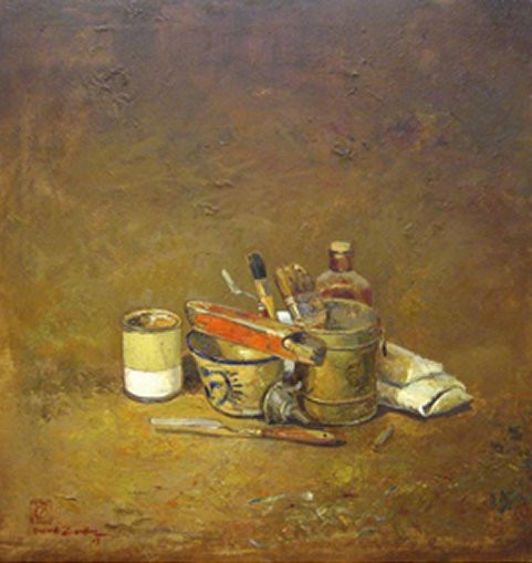 Davood Zandian Oil on canvas 100 x 100 cm
