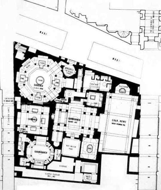 Floor plan of Ali Qoli Agha complex