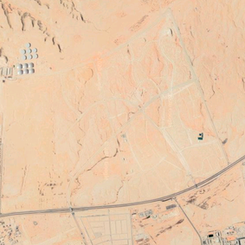 Google Earth view of Al Wasl New Town under construction