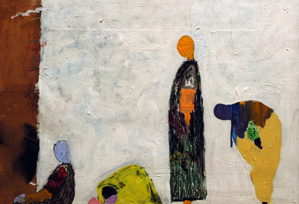 Amadou Kan-si Diouli Pictural Acrylic on Canvas 50 x 60 cm