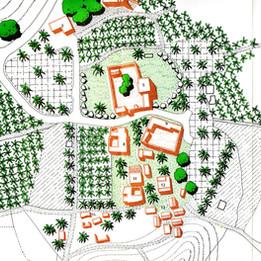 Site plan for restoration of the old Hatta village