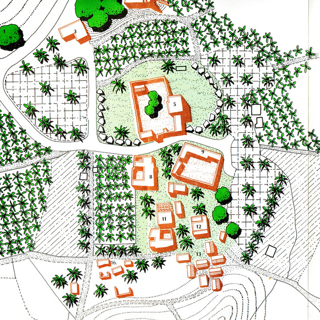 Site plan for restoration of the old Hatta village