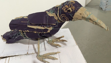 Installation view Yasmin Sinai Crow 22 x 43 cm