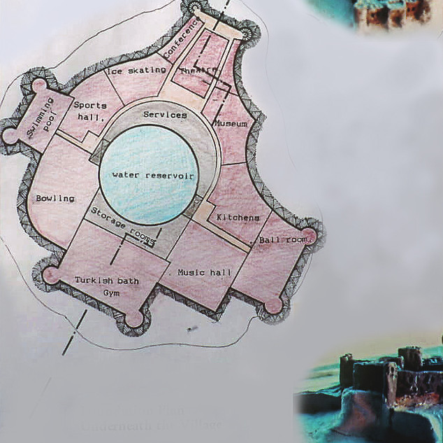 Service floor plan of the hilltop village